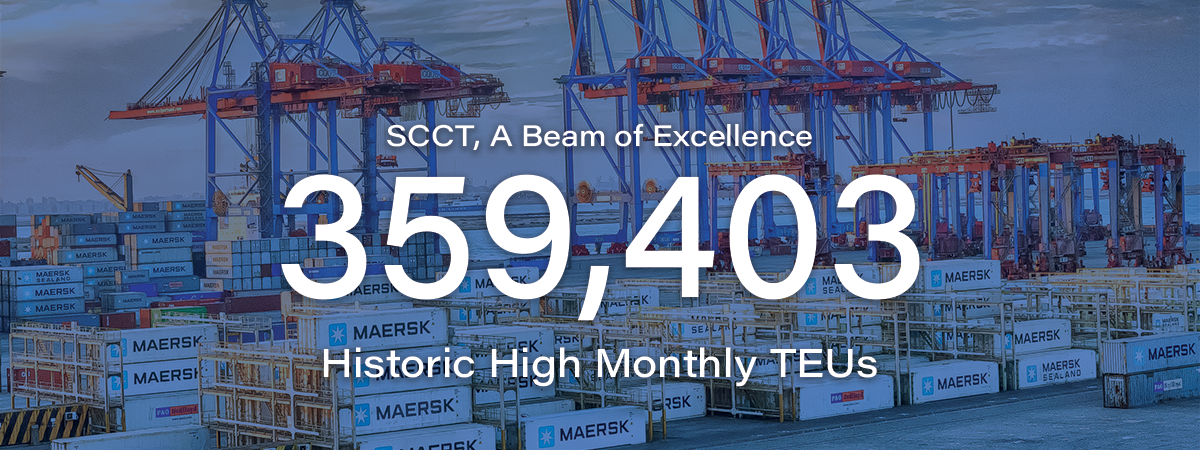 August 2020 witnessed the highest monthly volume at SCCT
